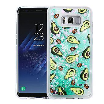 Avokado & grön Quicksand (hjärtan) glitter hybrid Case för Galaxy S8 plus
