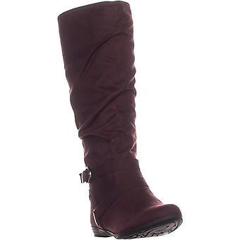 White Mountain Womens Fairfield Fabric Almond Toe Knee High Fashion Boots