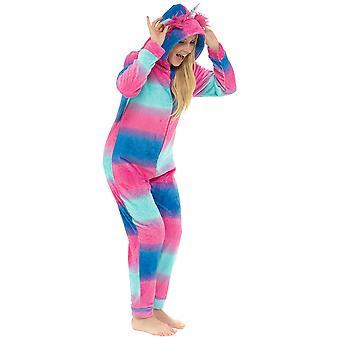 Ladies Unicorn Hooded Soft Fleece Onesei Pyjama Set
