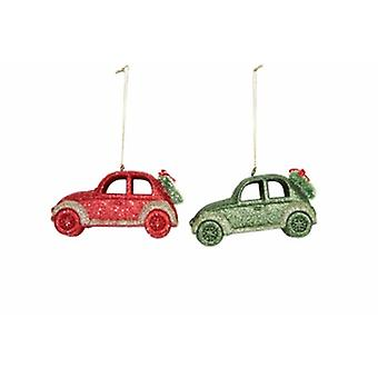 Gisela Graham Acrylic Glittered Car Decorations|Handpicked Gifts