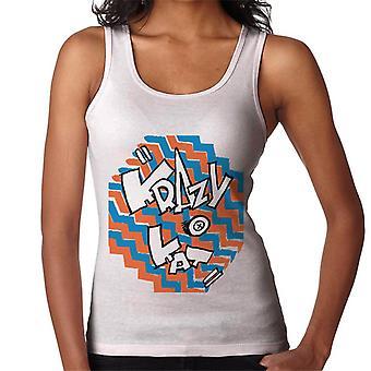 Krazy Kat Coloured Zigzag Logo Women's Vest