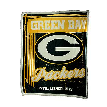NFL Green Bay Packers Super Soft Sherpa Throw Blanket