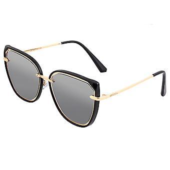 Bertha Rylee Polarisierte Sonnenbrille - Schwarz/Schwarz