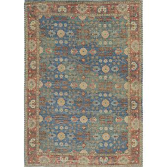 3' x 5' Blue or Red Jute Area Rug