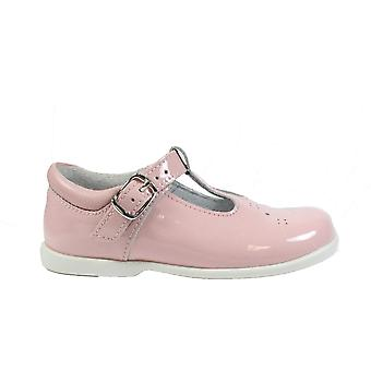 Startrite Swirl Pink Patent Leather Girls T Bar Shoes