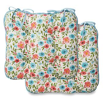 Cooksmart Country Floral Set of 2 Seat Pads