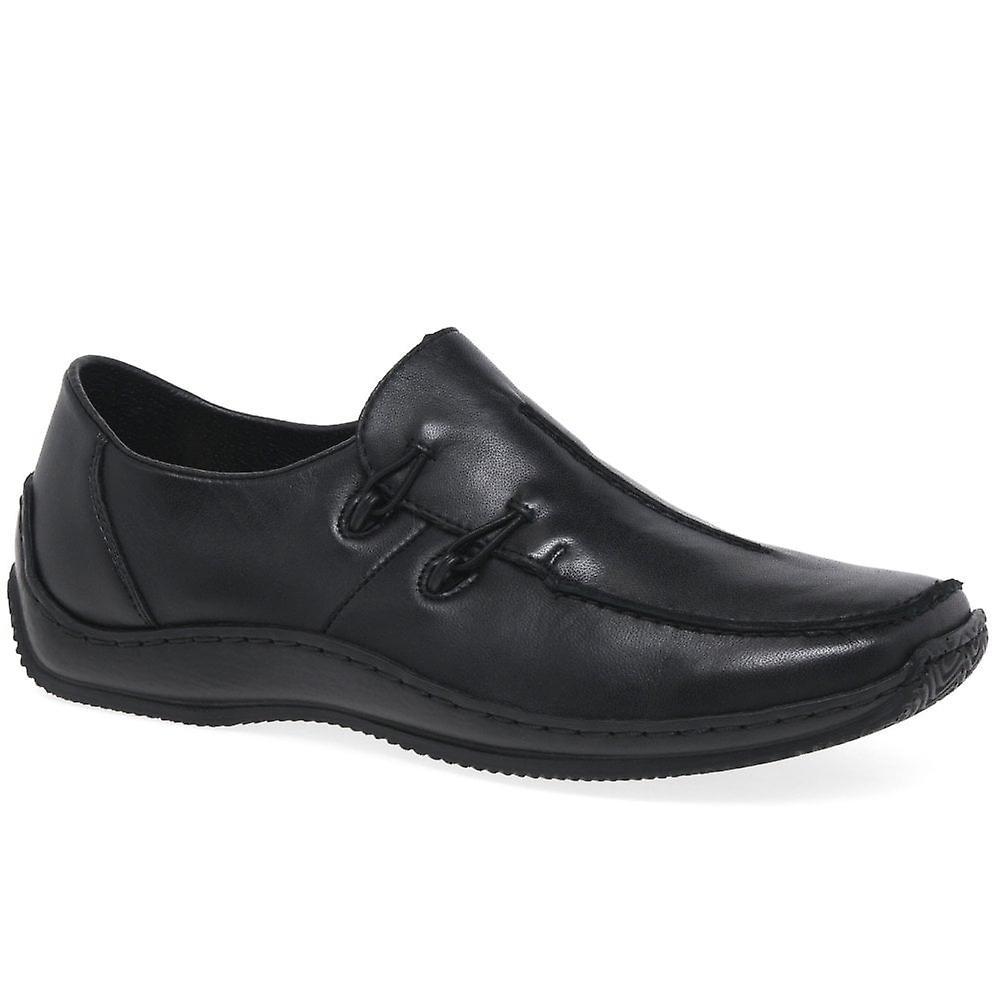 Rieker Celia L1751 czarne skórzane buty IJfYi