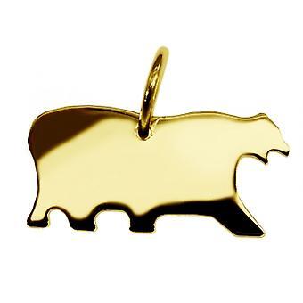 Hänge Kanada isbjörn i 585 guld