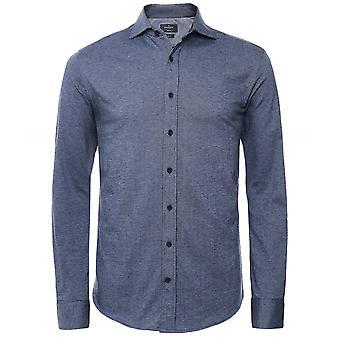 Hackett Slim Fit Jersey Herringbone Shirt