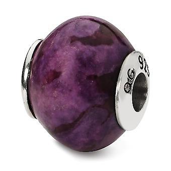 925 Sterling Silver finition polonaise Réflexions Purple Magnesite Stone Bead Charm Collier Bijoux Cadeaux bijoux pour Wom