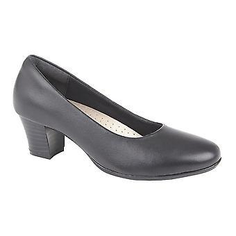 Mod Comfys Womens/dames lederen hiel Hof schoenen