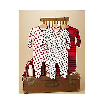 Essential One Baby Unisex Bright Spotty Star Sleepsuit - 3'lü Paket