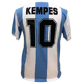 Argentina Kempes Signed Shirt