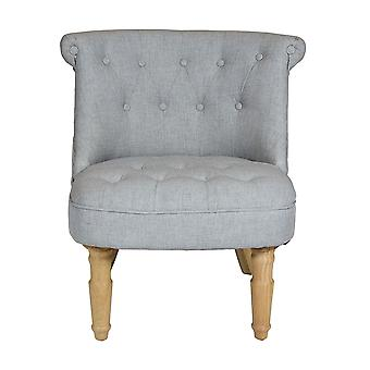 Charles Bentley Toulouse Linen Occasion Accent Chair with Solid Wood Frame Grey