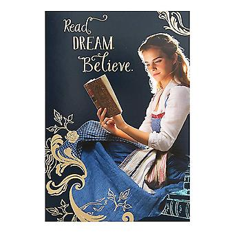 Hallmark Beauty And The Beast Read. Dream. Believe. Blank Card 25482265