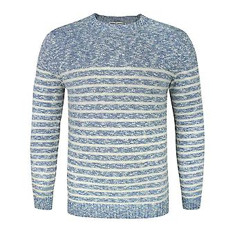 Common Sons Blue Striped Knitted Jumper