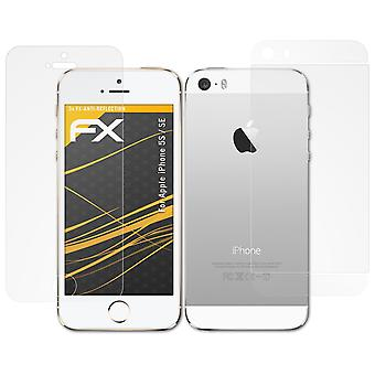 atFoliX Glass Protector compatible with Apple iPhone 5S / SE Glass Protective Film 9H Hybrid-Glass