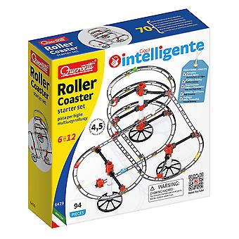 Quercetti Roller Coaster Starter Set Marble Run 94PC