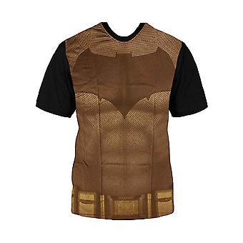 Kids Batman T Shirt Superhero Bat Suit Costume new Official DC Comics Boys Black