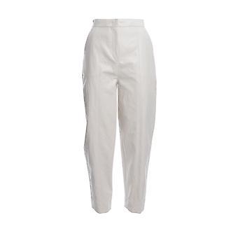 Pinko 1g14lb7866z14 Women's White Viscose Pants