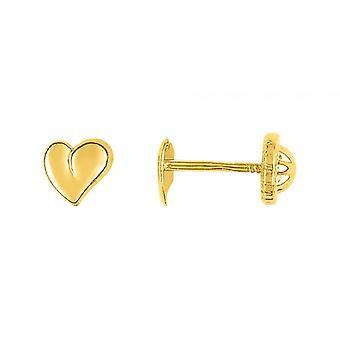 Ohrringe Herzen Laqu s Gold 750/1000 gelb (18K)
