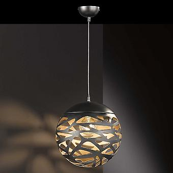 WOFI Rachel Stylish Ceiling Pendant Light In Black And Gold Finish 6363.01.46.8300