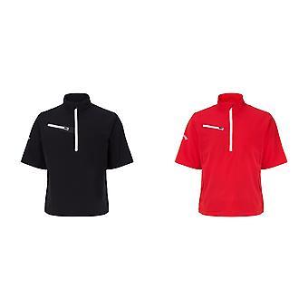 Callaway Mens Gust 2.0 Short Sleeve Zip Neck T-Shirt (Water & Wind Resistant)