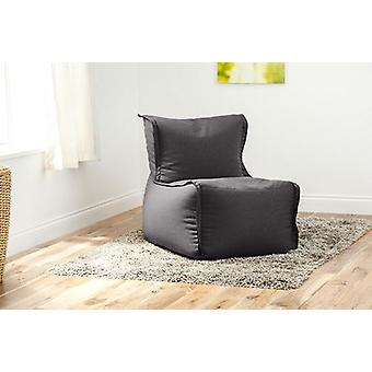 Fun!ture Zip Together Bean Bag Lounger   Great for Sitting living Room   Home Sofa Seat Chair Furniture   Soft and Comfortable (Graphite)