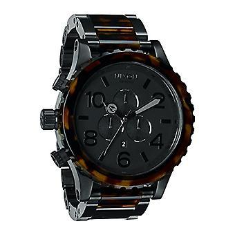 Chronographe à quartz Nixon montre unisexe avec acier inoxydable bande _ A0831061-00