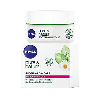 Nivea Pure and Natural Soothing Day Care 50ml Dry to Senstive Skin