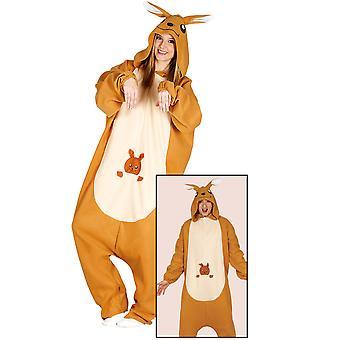 Déguisement combinaison kangourou adulte