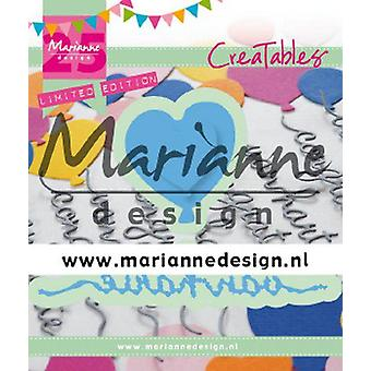 Marianne Design Creatables Cutting Dies - Van Harte & Ballon 3 St 25E Verjaardag (NL) LR0625