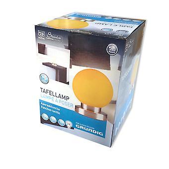 Grundig RVS tafellamp met touch functie (oranje)