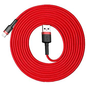 Baseus 2A 8 Pin à USB Charging Cable Data Cable 3m Red Red Accessories Charging Cable