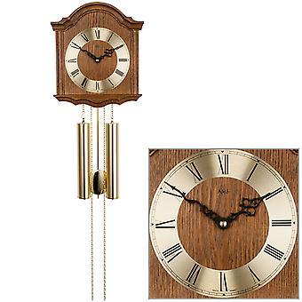 AMS 206/4 seinäkello heiluri mekaaninen puu tammi kotikello heiluri kello
