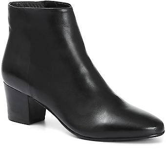 Jones Bootmaker Womens Heeled Leather Ankle Boot