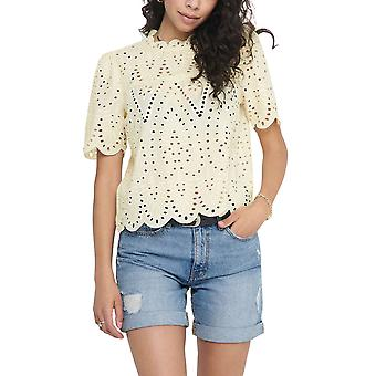 Only Women's Nyla Life Anglaise Top Loose Fit