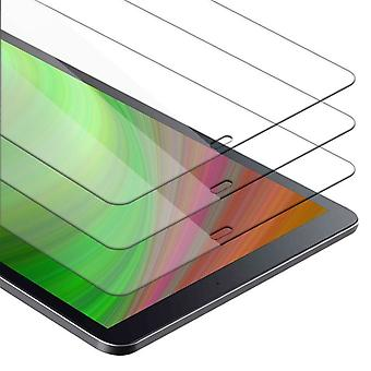 """Cadorabo 3x Tank Foil for Samsung Galaxy Tab A (10.5"""") - Protective Film in KRISTALL KLAR - 3 Pack Tempered Display Protective Glass in 9H Hardness with 3D Touch Compatibility"""