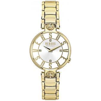 Versus Versace Womens Kristenhof ouro Dial ouro PVD pulseira SP49060018 Watch