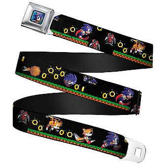 Sonic the Hedgehog Full Colour Webbing Seatbelt Buckle Belt (24-38