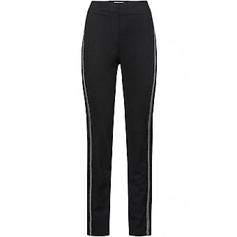 Bianca Black Slim Leg Trousers