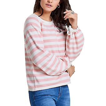 Only Women's White- Striped Pullover