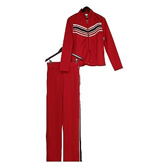 K Jordan Set Striped Zip Front Jacket & Pants Orange