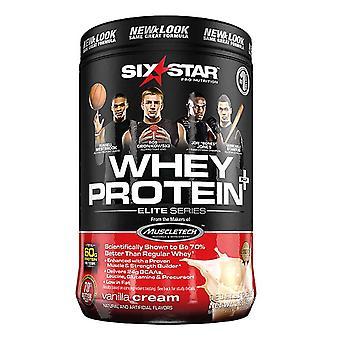 Six star elite series whey protein powder, vanilla cream, 2 lbs