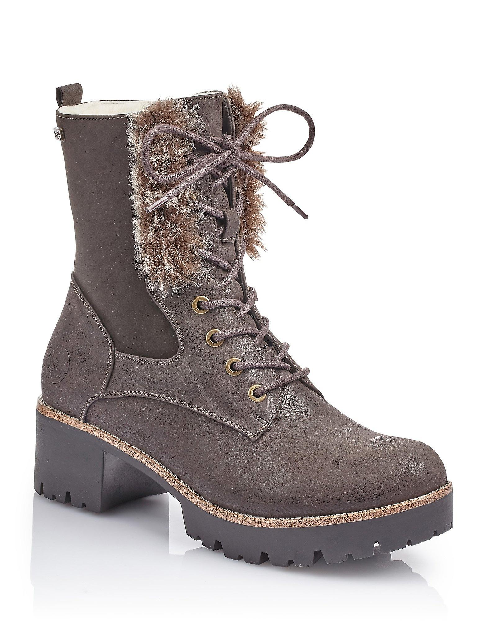 Rieker sandawe monteria rabbit boots womens brown S460S