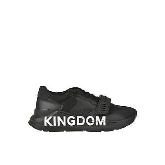 Burberry Ezgl013013 Damen's Schwarze Leder Sneakers