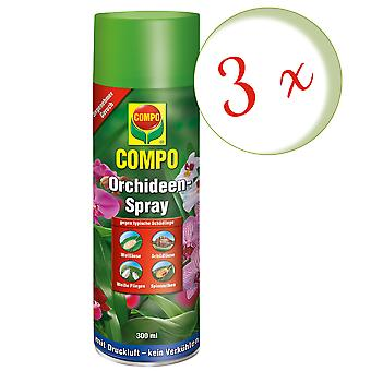 Sparset: 3 x COMPO Orchideen-Spray, 300 ml