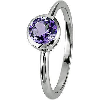ז'אק למאן-טבעת מכסף עם אחלמה-SE-R101D58-רוחב הטבעת: 58