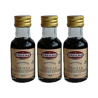 3 x 28ml Preema Vanilla Essence Baking Aroma Flavour Concentrated Cakes Cookies