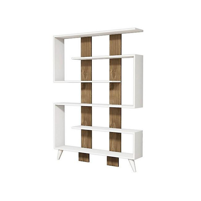 Jane Color White Library, Apple-Chip Walnut, PVC 120x22x164 cm